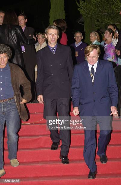 Lambert Wilson Quentin Raspail during SaintTropez Fiction Television Festival 2001 Closing Ceremony at Place des Lices in SaintTropez France