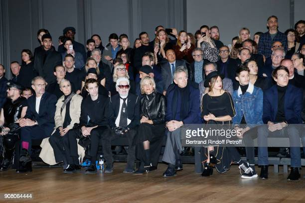 Lambert Wilson Stylist of Dior Woman Maria Grazia Chiuri Robert Pattinson Karl Lagerfeld Helene MercierArnault her husband owner of LVMH Luxury Group...