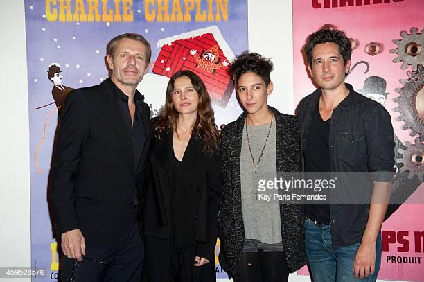 Lambert Wilson Virginie Ledoyen Marie Amachoukeli and Jean Bernard Marlin attend the 'Courts Devant ' 10th Anniversary of Short Movies Opening...