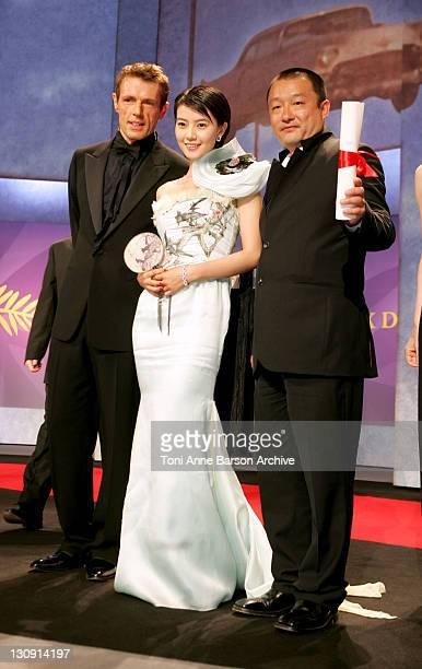 Lambert Wilson YuanYuan Gao and Wang Xiaoshuai Winner of Prix du Jury for 'Shanghai Dreams '