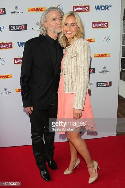 Lambertz Hermann Buehlbecker and Anne Kathrin Cyrus attend the CHIO 2014 media night on July 15 2014 in Aachen Germany