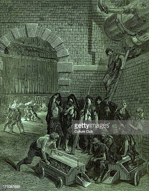 Lambeth Gasworks Engraving by Gustave Doré from 'London a Pilgrimage by Gustave Doré and Blanchard Jerrold' 1872