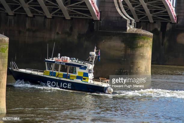 Lambeth Police Boat Under Lambeth Bridge