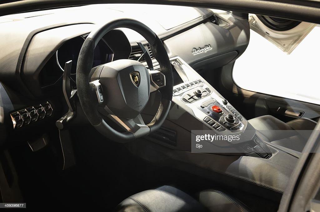Lamborghini Aventador Interior Stock Photo   Getty Images