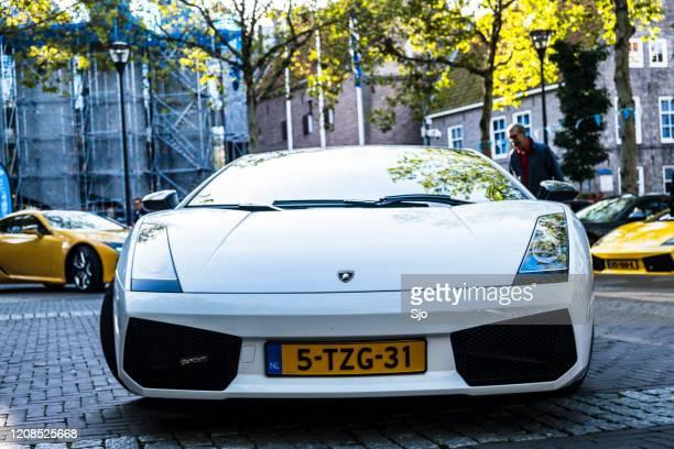 "lamborghini gallardo superleggera sportwagen - ""sjoerd van der wal"" or ""sjo"" stockfoto's en -beelden"
