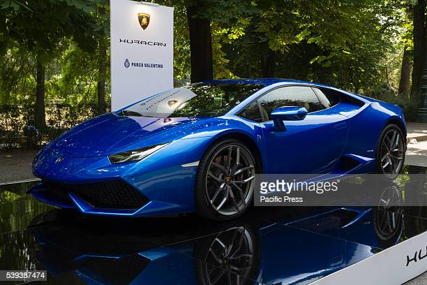 Lamborghini Huracan during the Parco Valentino car show They host cars from worldwide manufacturers