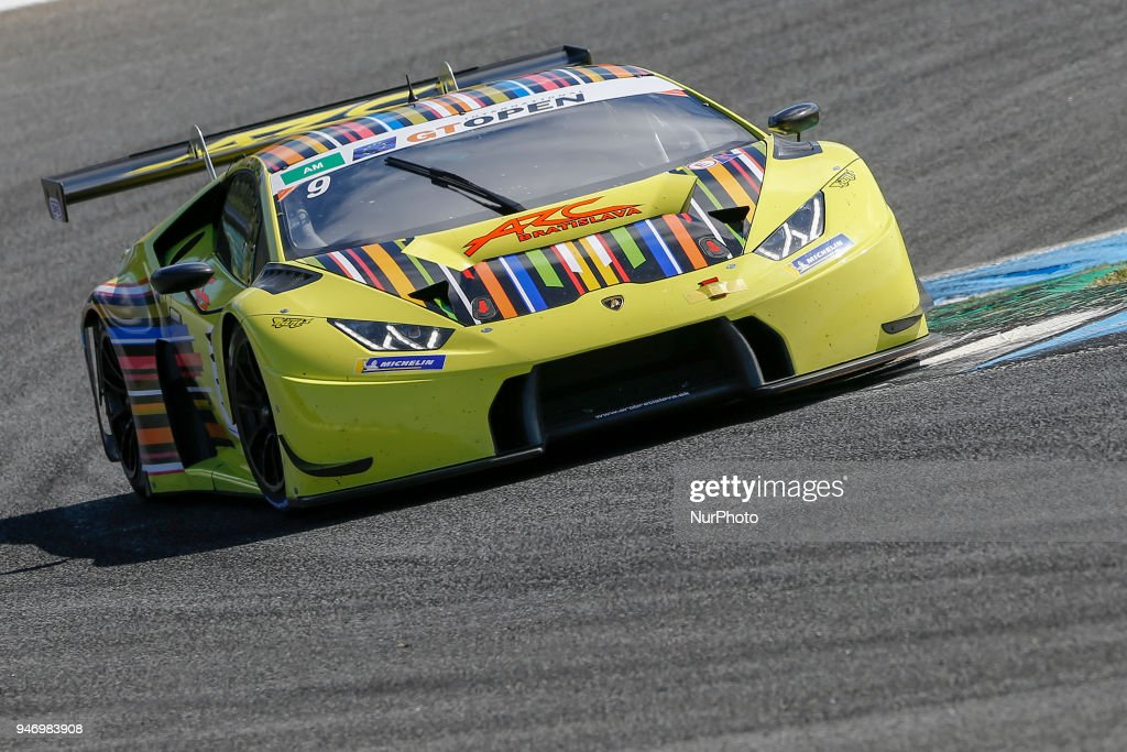 Lamborghini Huracan GT3 of ARC Bratislava by VSR driven by Miro Konopka and Konstantins Calko during Race 1 of International GT Open, at the Circuit de Estoril, Portugal, on April 14, 2018.