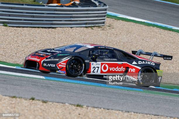 Lamborghini Huracan GT3 of Daiko Lazarus Racing driven by Fabrizio Crestani and Miguel Ramos during Race 1 of International GT Open at the Circuit de...
