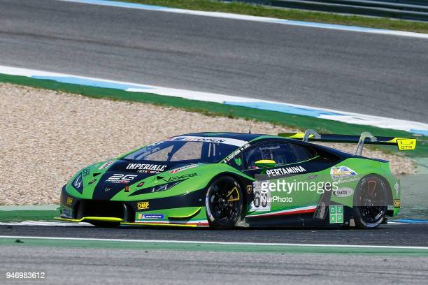 Lamborghini Huracan GT3 of Imperiale Racing driven by Giovanni Venturini and Jeroen Mul during Race 1 of International GT Open at the Circuit de...