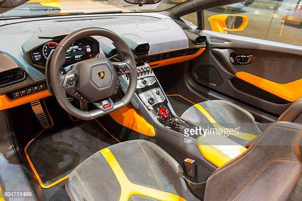Lamborghini Huracan LP 610-4 Spyder sports car interior