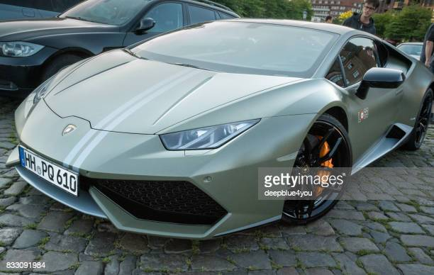 Lamborghini Huracan LP610-4 parked during the event with Magnus Walker on the Fish Market Hamburg