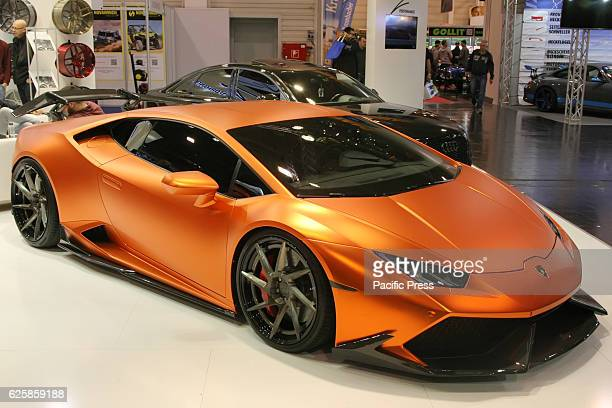 Lamborghini Huracan on display at the Essen Motor fair grounds The motor show presents motorcycles cars and tuning parts from over 500 exhibiting...