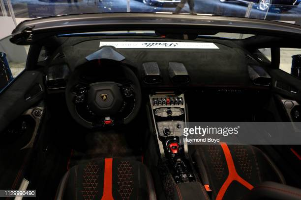 Lamborghini Huracan Performante is on display at the 111th Annual Chicago Auto Show at McCormick Place in Chicago Illinois on February 7 2019