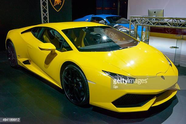 Lamborghini Huracán carro desportivo vista frontal