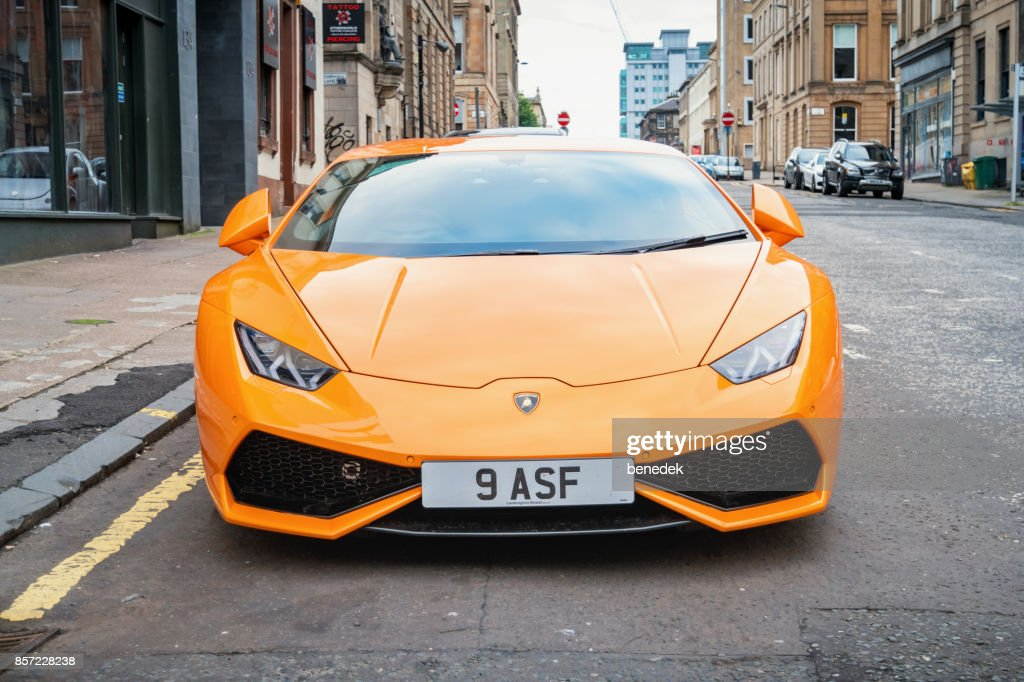 Lamborghini Huracan Sports Car Front View Stock Photo Getty Images