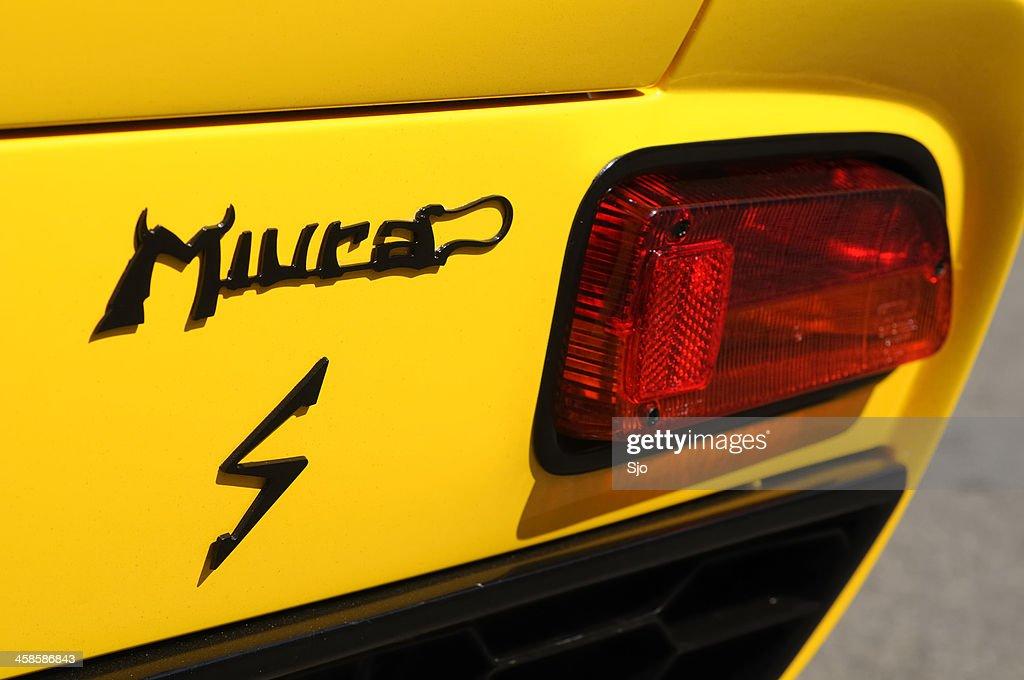 Lamborghini Miura S Classic Sports Car Rear Light Stock Photo