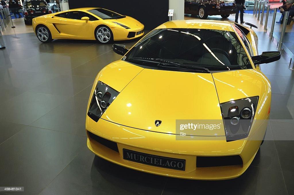 Lamborghini Murcielago And Gallardo Sports Cars At A Motor Show
