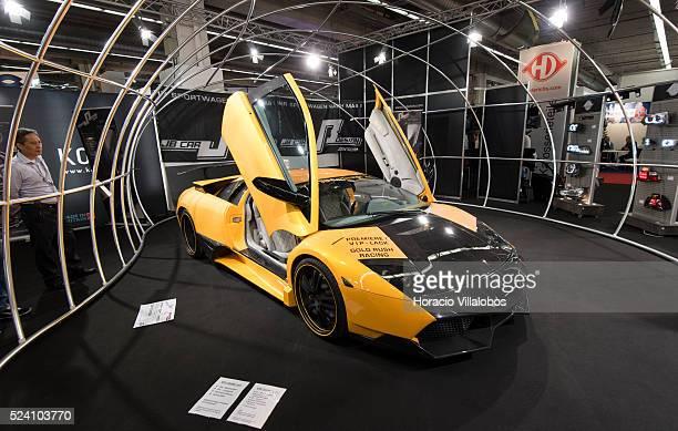 Lamborghini Murcielago at JB Design Zentrum stand in Automechanika 2014 Frankfurt Germany 16 September 2014 on opening day Automechanika Frankfurt is...