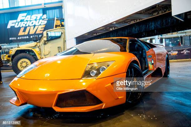 Lamborghini Murcielago used on screen by Tyrese Darnell Gibson in The Fate of the Furious during the 'Fast Furious Live' media launch day event which...
