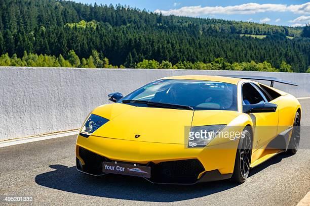 lamborghini murciélago lp 670 superveloce - lamborghini stock photos and pictures