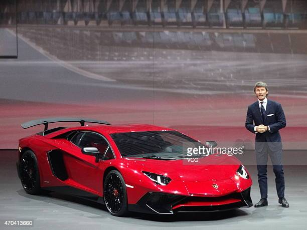 Lamborghini President And Ceo Stephan Winkelmann Presents The New Aventador Lp 7504 Superveloce During A Press