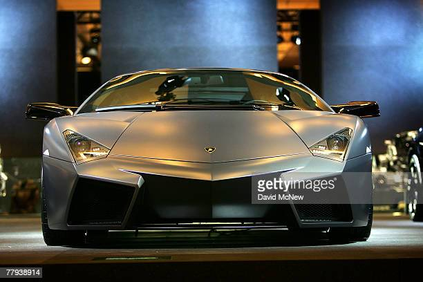 Lamborghini showcases its new $1.4 million Reventon during the two-day media preview of the Los Angeles Auto Show, first major North American car...