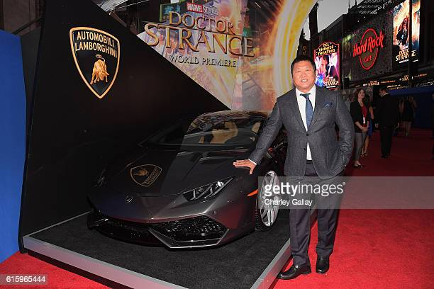 Lamborghini Stars on red carpet with actor Benedict Wong at Marvel Studios' Doctor Strange in US theaters Nov 4 at El Capitan Theatre on October 20...