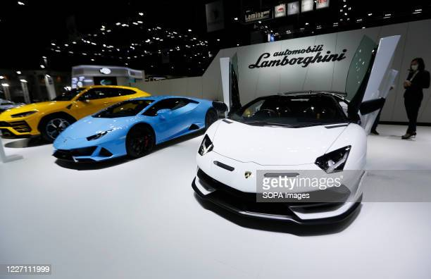 Lamborghini's showcased during the 41st Bangkok International Motor Show 2020. The exhibition was open for the media only today, and will be open...