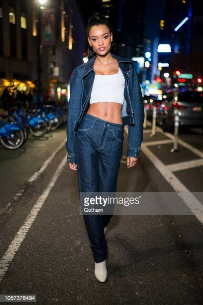 Lameka Fox attends fittings for the 2018 Victoria's Secret Fashion Show in Midtown on November 4 2018 in New York City