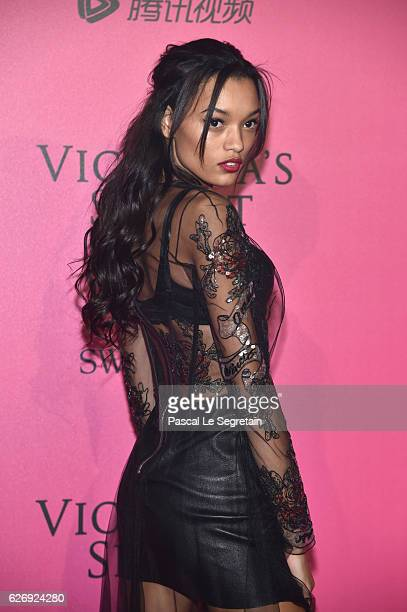 Lameka Fox attends the 2016 Victoria's Secret Fashion Show after party on November 30 2016 in Paris France