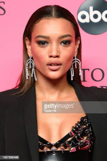 Lameka Fox attends the 2018 Victoria's Secret Fashion Show Viewing Party at Spring Studios on December 2, 2018 in New York City.