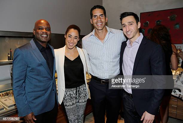 Lamell McMorris Asha Loring Cyrus Walker and Adam Cohen are seen at David Yurman InStore Shopping Event Hosted by Randy Starks To Benefit The Florida...