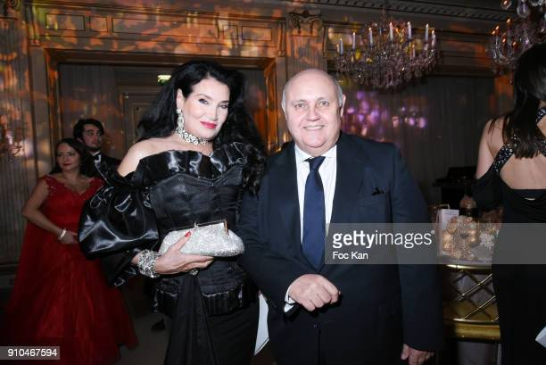 Lamia Khashoggi and Alfredo Galullo attend the 41st 'The Best' Award Ceremony in Paris Paris Fashion Week Haute Couture Spring Summer 2018 at Hotel...