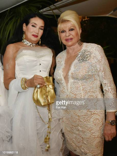Lamia Khashoggi and Ivana Trump attend the Massimo Birthday Party On French Riviera on August 19 2018 in SaintTropez France