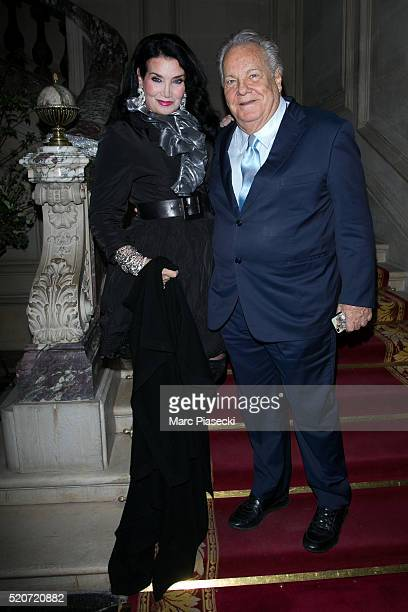 Lamia Khashoggi and Massimo Gargia attend the 'Children for Peace' Benefit Gala at Cercle Interallie on April 12 2016 in Paris France