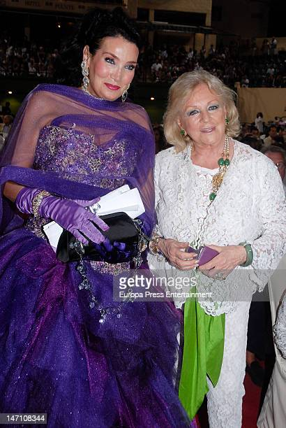 Lamia Khashoggi attends the concert of Sopranos Montserrat Caballe and Montserrat Marti for The Children for Peace at Hotel Puente Romano on June 23...