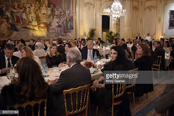 Lamia Khashoggi attends the 'The Children for Peace' Gala at Cercle Interallie on April 12 2016 in Paris France