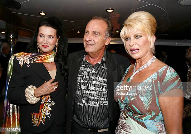 Lamia Khashoggi guest and Ivana Trump during 2007 Cannes Film Festival Denise Rich Event for the G P Foundation Sponsored by Audi at Private Yacht in...