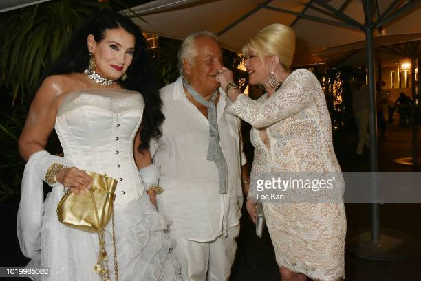 Lamia Khashoggi Massimo Gargia and Ivana Trump attend the Massimo Birthday Party On French Riviera on August 19 2018 in SaintTropez France