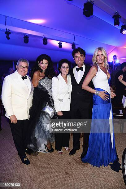 Lamia Khashoggi Nunzio Alfredo D'Angieri a guest Giulio Base and and Tiziana Rocca attend the Eva Longoria Global Gift Gala after party hosted by...