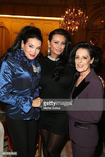 Lamia Khashoggi SAR Princesse Kasia Al Thani and Debra Macé attend 'The Children for Peace' Gala At Cercle Interallie In Paris at Cercle Interallie...