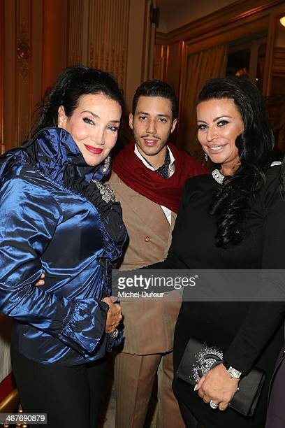 Lamia Khashoggi Stefan D'Angieri and SAR Princesse Kasia Al Thani attend 'The Children for Peace' Gala At Cercle Interallie In Paris at Cercle...