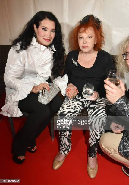 Lamia Khashoggii and Le Grand Siecle 2018 awarded singer Regine Attend 'La Femme Dans Le Siecle' Dinner on July 5 2018 in Paris France
