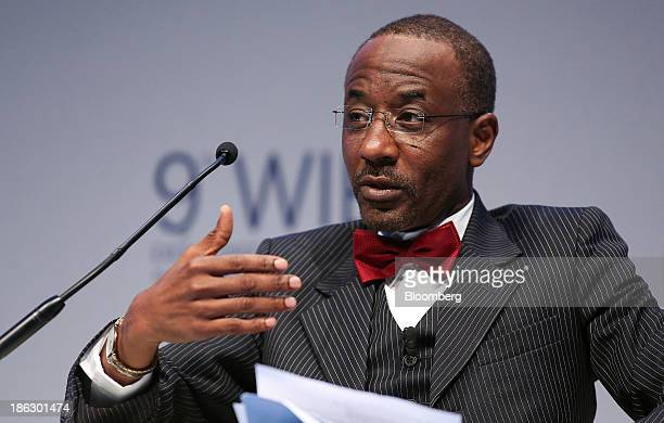 Lamido Sanusi governor of Nigeria's central bank speaks during the 9th World Islamic Economic Forum in London UK on Wednesday Oct 30 2013 Islamic...