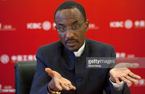 Lamido Sanusi governor of the Central Bank of Nigeria gestures during a news conference in Hong Kong China on Wednesday Sept 7 2011 Nigeria plans to...