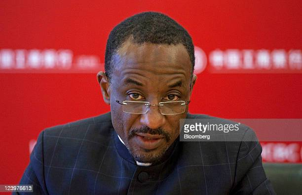 Lamido Sanusi governor of the Central Bank of Nigeria speaks during a news conference in Hong Kong China on Wednesday Sept 7 2011 Nigeria plans to...