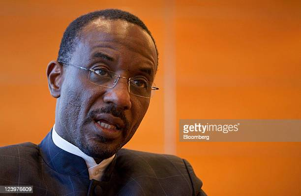 Lamido Sanusi governor of the Central Bank of Nigeria speaks during an interview in Hong Kong China on Wednesday Sept 7 2011 Nigeria plans to reach a...