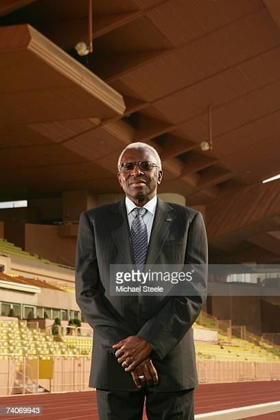 Lamine Diack of Senegal, President of the IAAF attends a portrait session at the Stade Louis II on May 3, 2007 in Monte Carlo, Monaco.