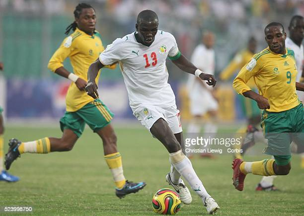 Lamine Diatta during the CAF 2008 African Cup of Nations Group D match between Senegal and South Africa at the Baba Yara Stadium in Kumasi Ghana West...