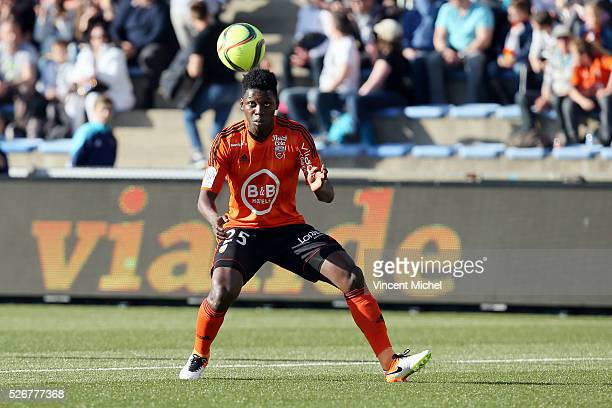 Lamine Gassama of Lorient during the French Ligue 1 match between Fc Lorient and Lille OSC at Stade du Moustoir on April 30, 2016 in Lorient, France.
